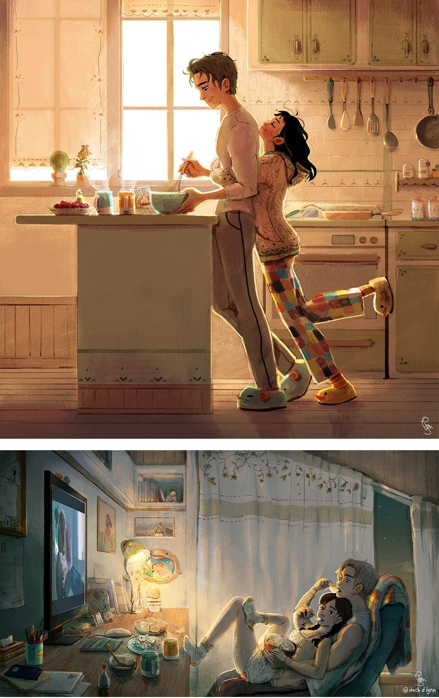 7 Sweet Illustrations Prove That Love Is In The Little Things