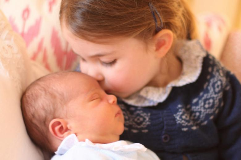 Princess Charlotte and her brother Prince Louis