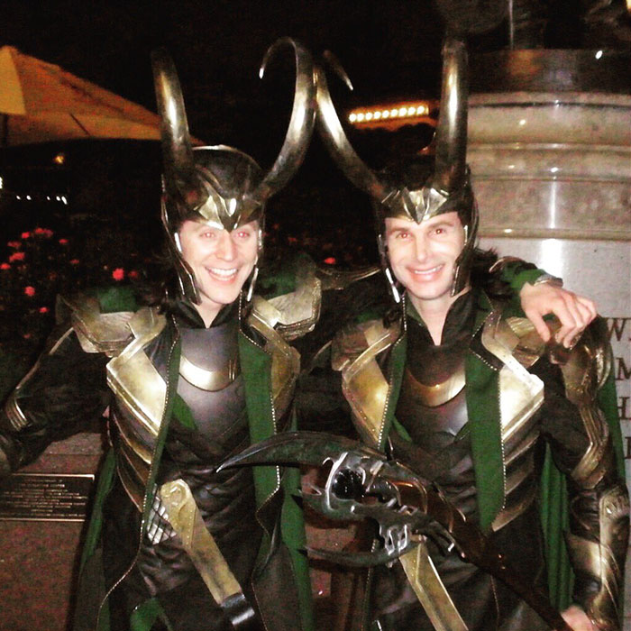Tom Hiddleston (Loki) and his stunt double Paul Lacovara1