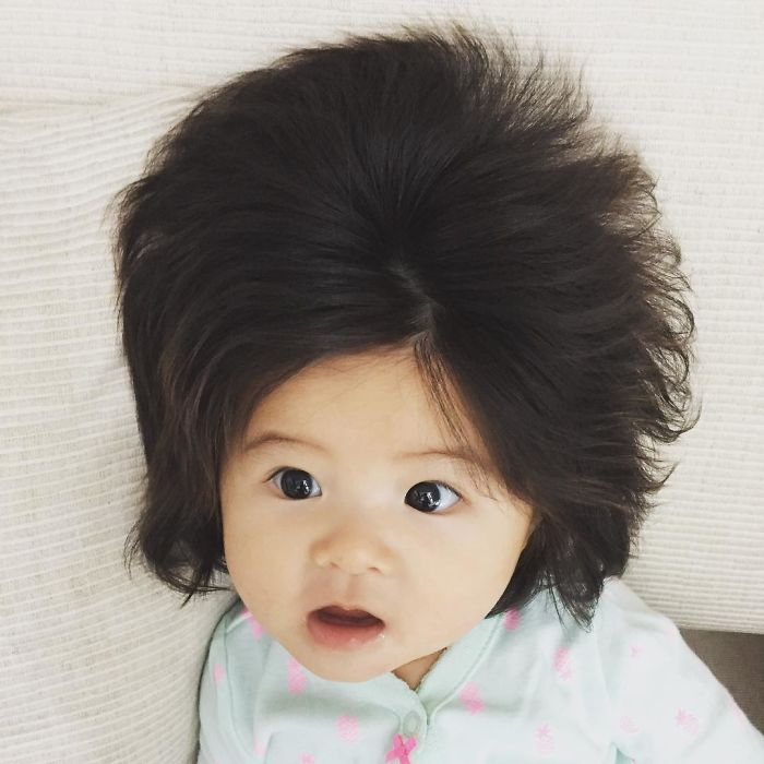 6 Month Old Baby Girl Gains Internet Fame For Her Amazing Hair14