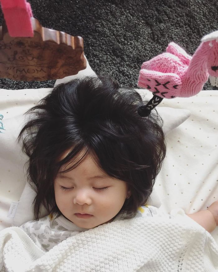 6-Month-Old Baby Girl Gains Internet Fame for Her Amazing Hair