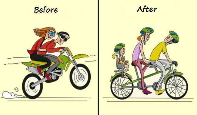 20 Funny Images Show The Life Of Men Before And After Marriage