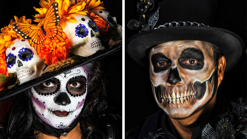 Stunning Skeleton Makeup To Celebrate Halloween