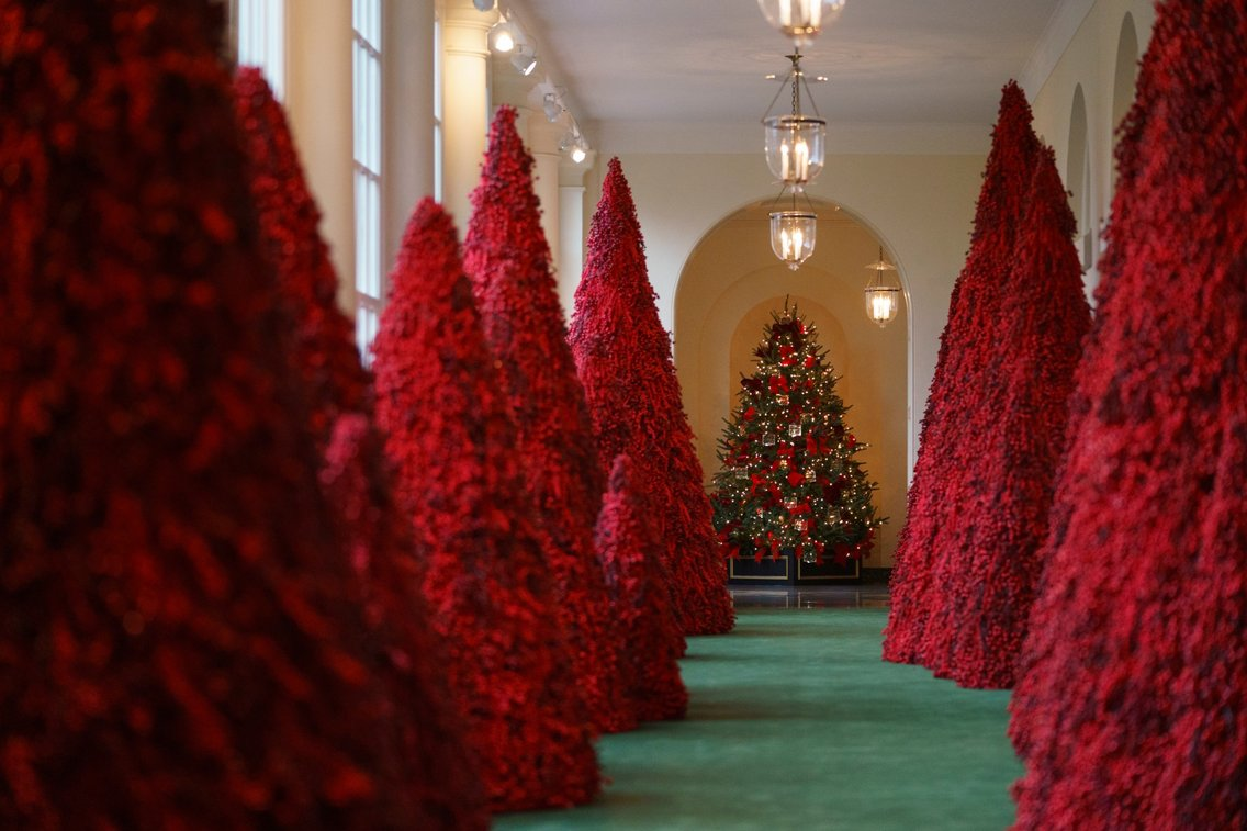 White House Christmas Tree Decorations 2018 Photos