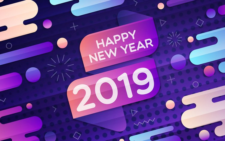 2019 happy new year hd background