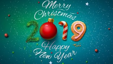 2019 Happy New Year and Merry Christmas HD Wallpaper