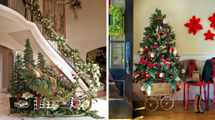 60 Beautiful Christmas Entryway Decorating Photos for Your Inspiration
