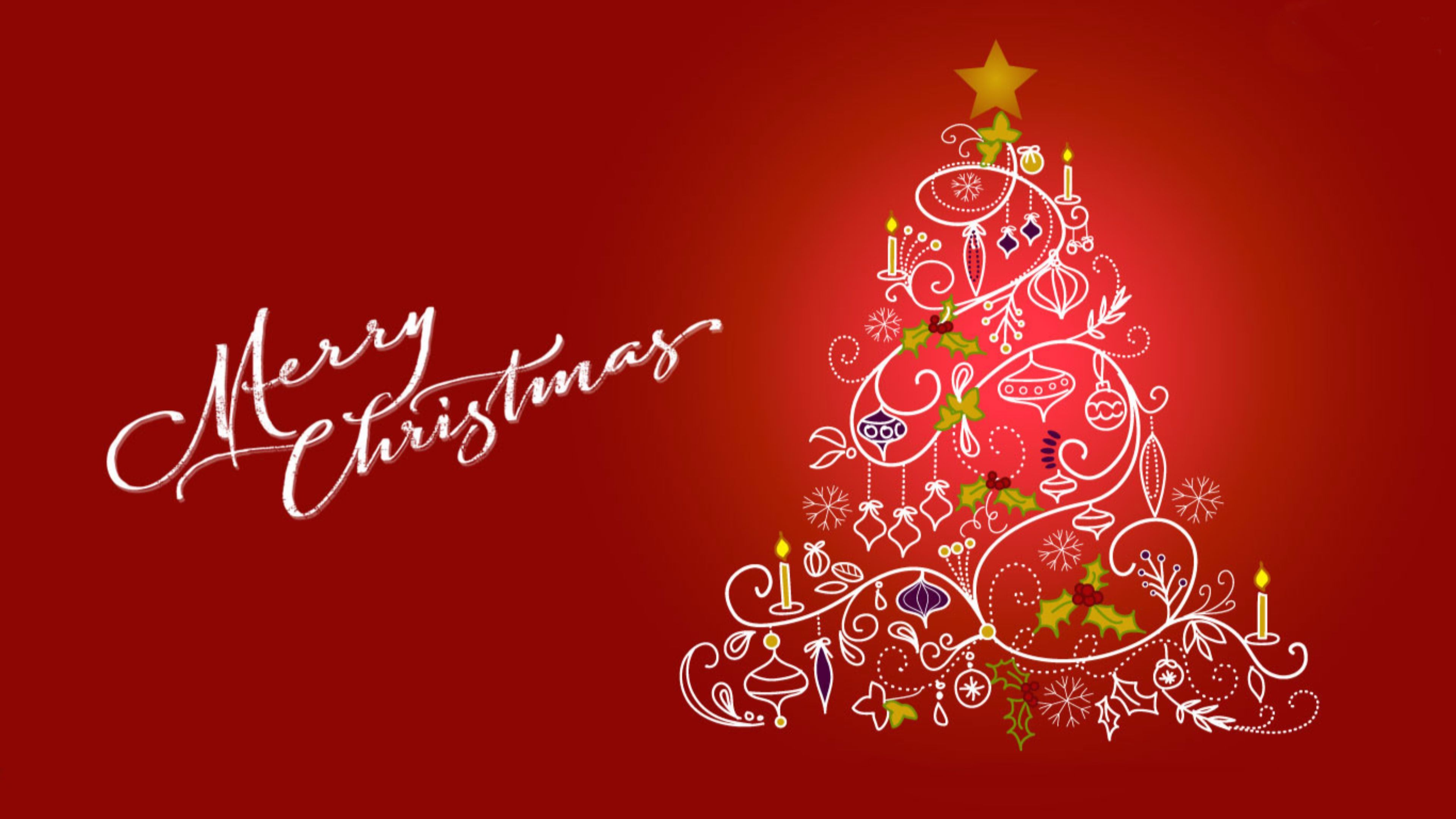 Christmas Tree Image HD Wallpaper