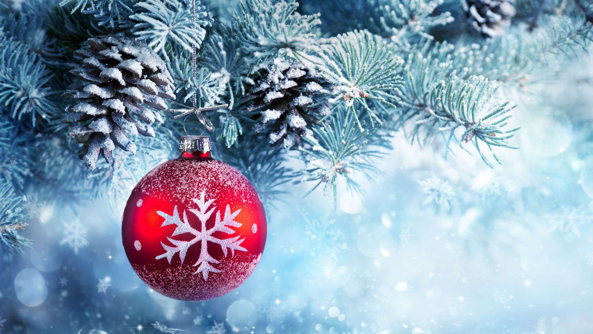 Winter Christmas Ball Wallpaper 1080p