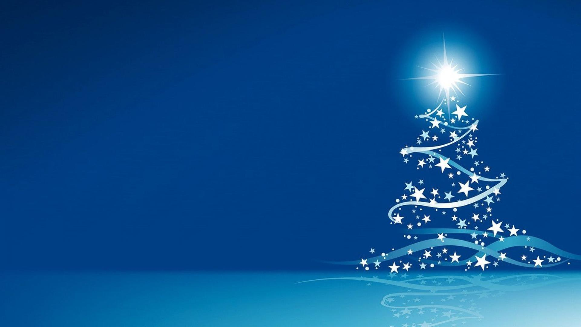 Christmas tree vector art wallpaper 1920x1080