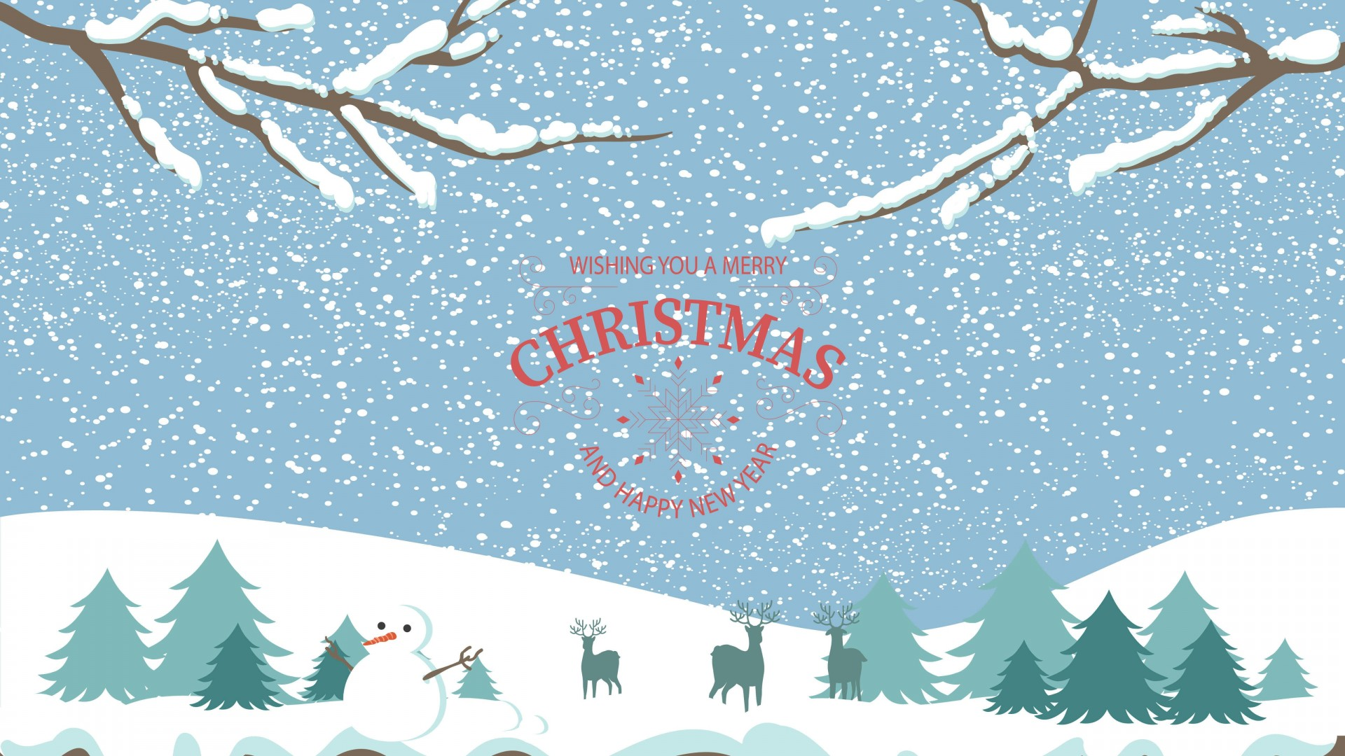 merry christmas illustration wallpaper background