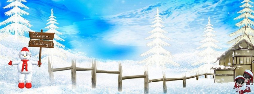 Beautiful happy holidays facebook cover photo