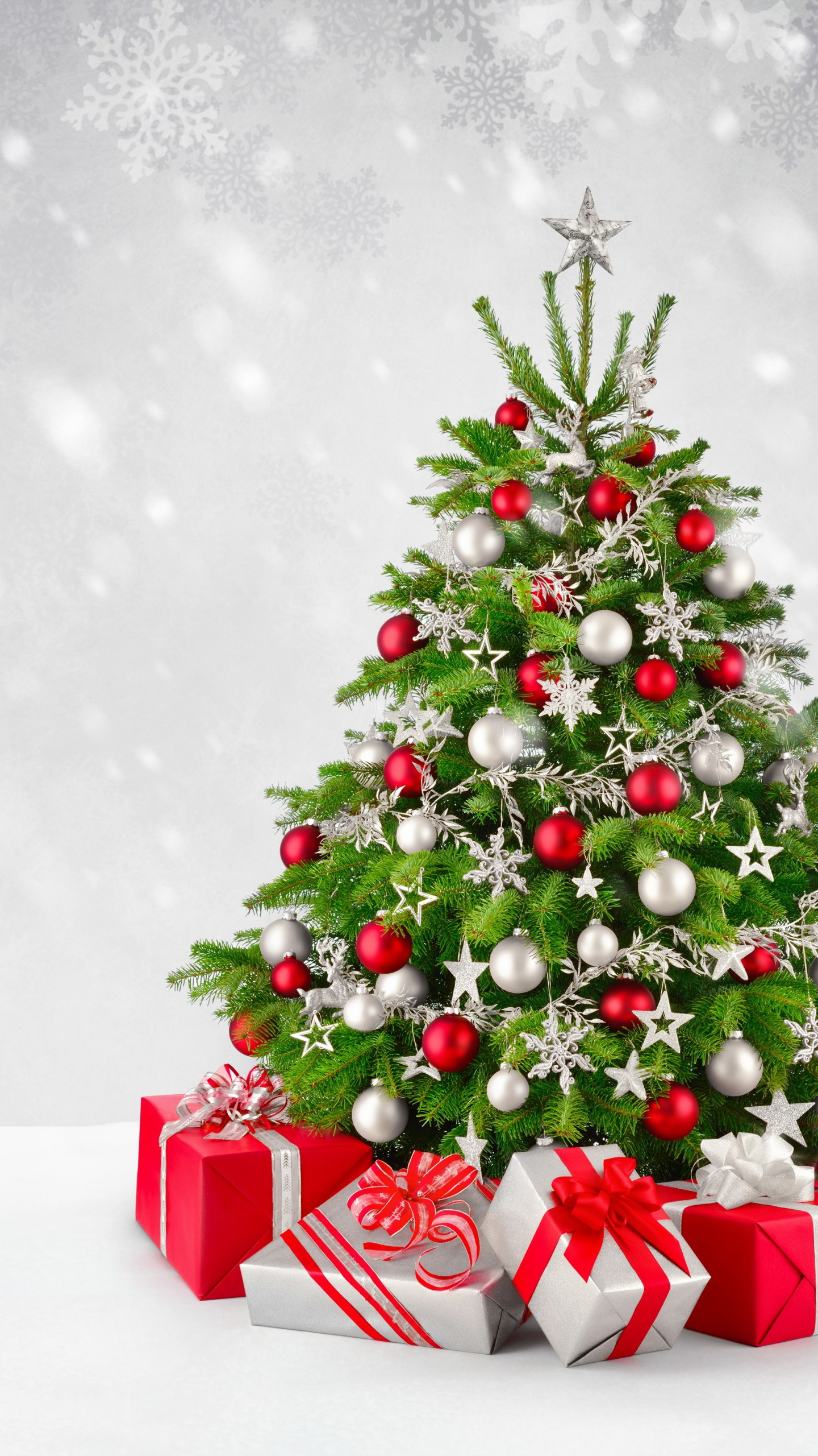 Christmas Tree Presents iPhone Wallpaper 1440x2560