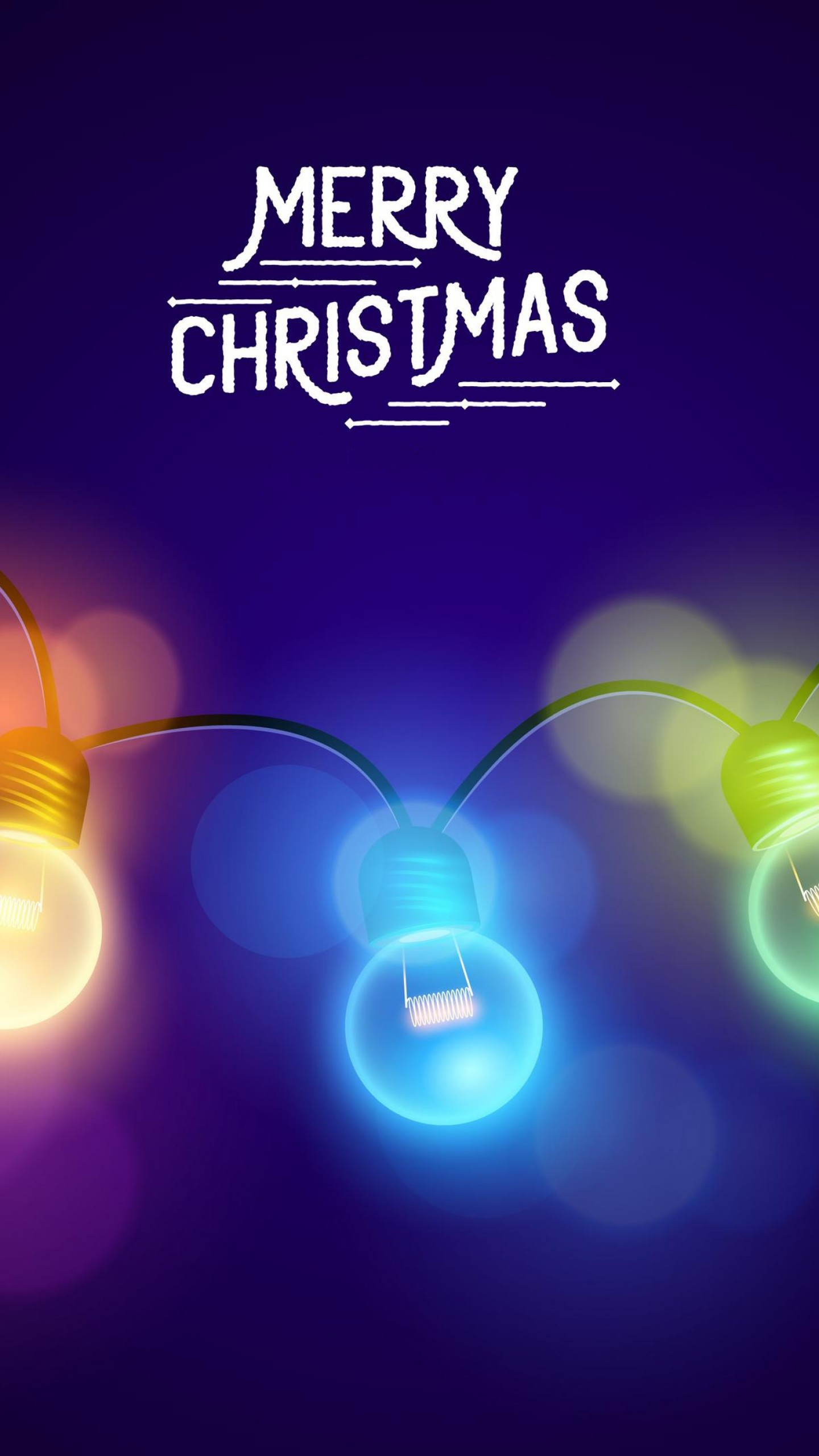 Merry Christmas Lights iPhone Wallpaper