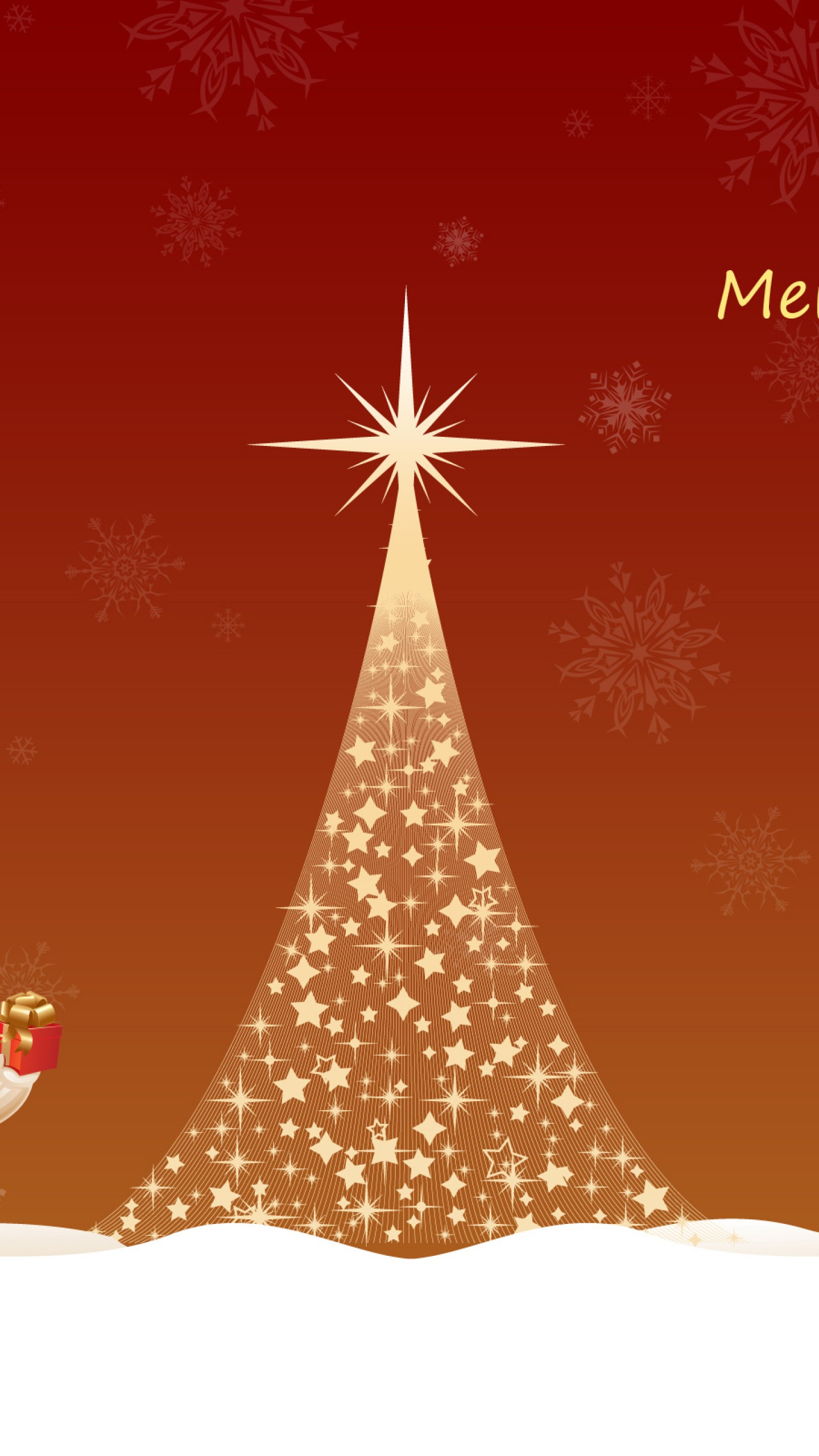 Merry Christmas Tree iPhone Wallpaper