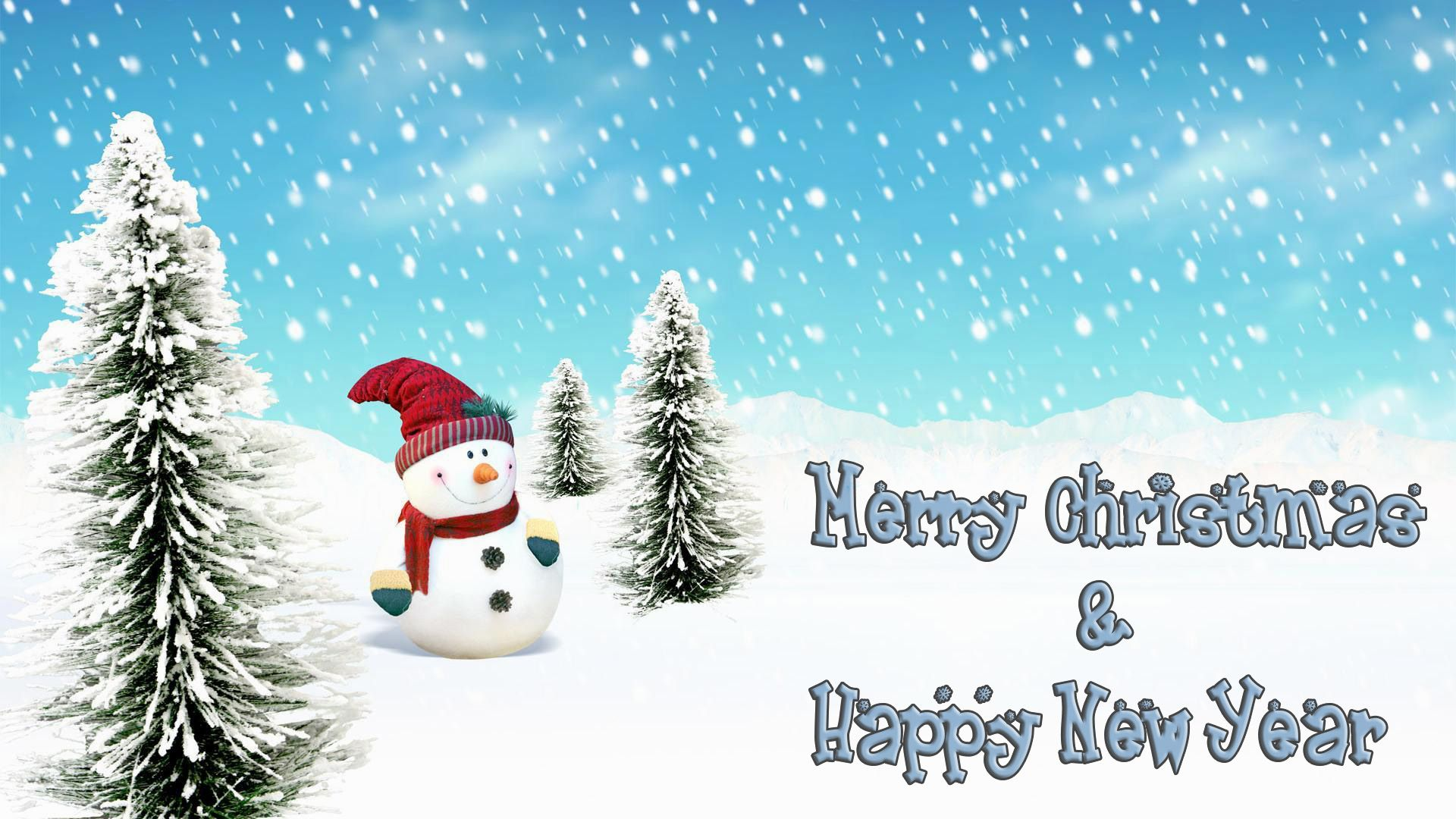 Merry Christmas and Happy New Year Picture Wallpaper 1920x1080
