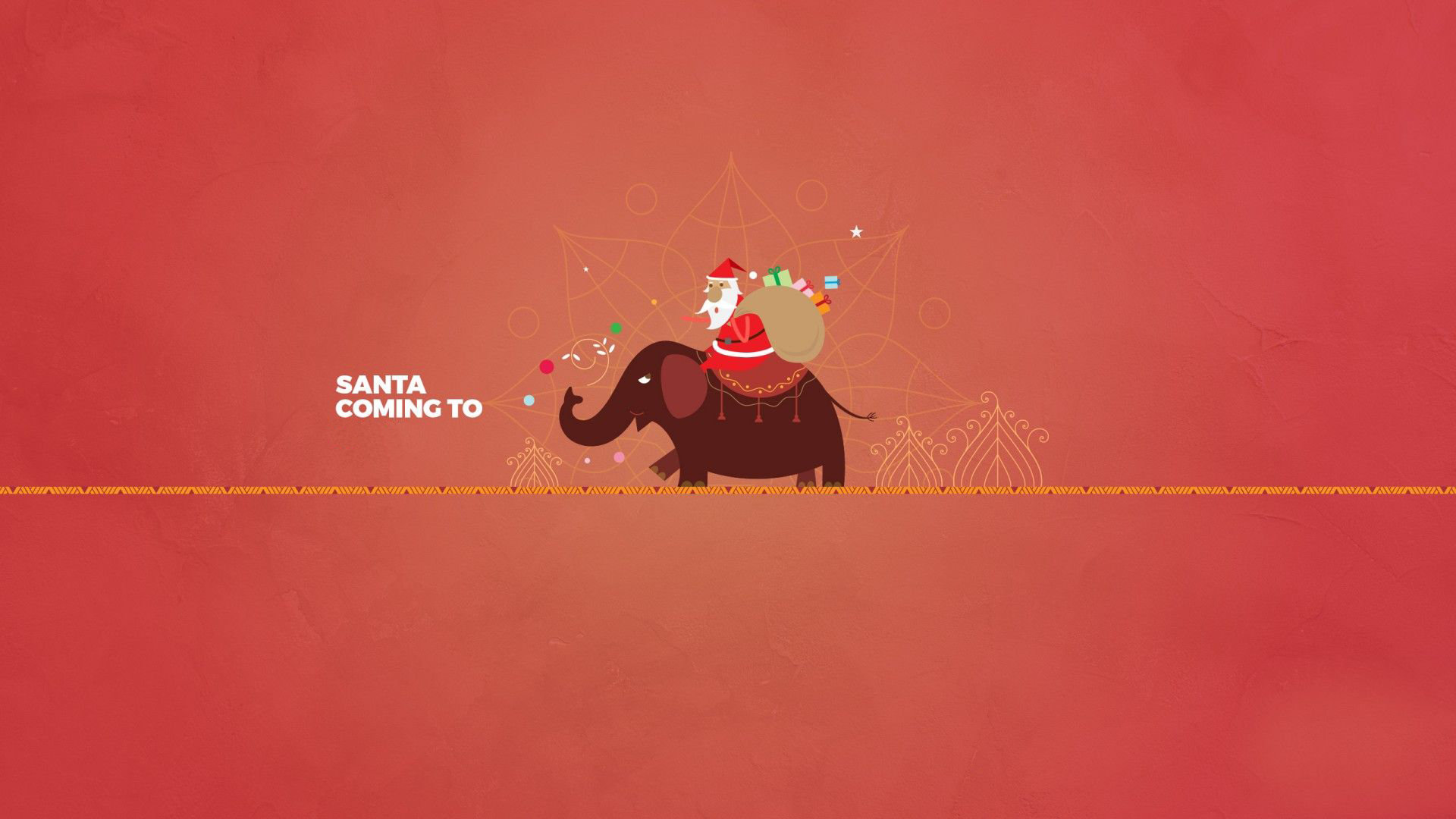 Santa Coming to Your Town Minimalist Christmas Wallpaper