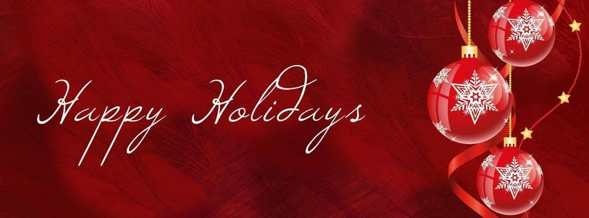happy holiday image for Facebook cover