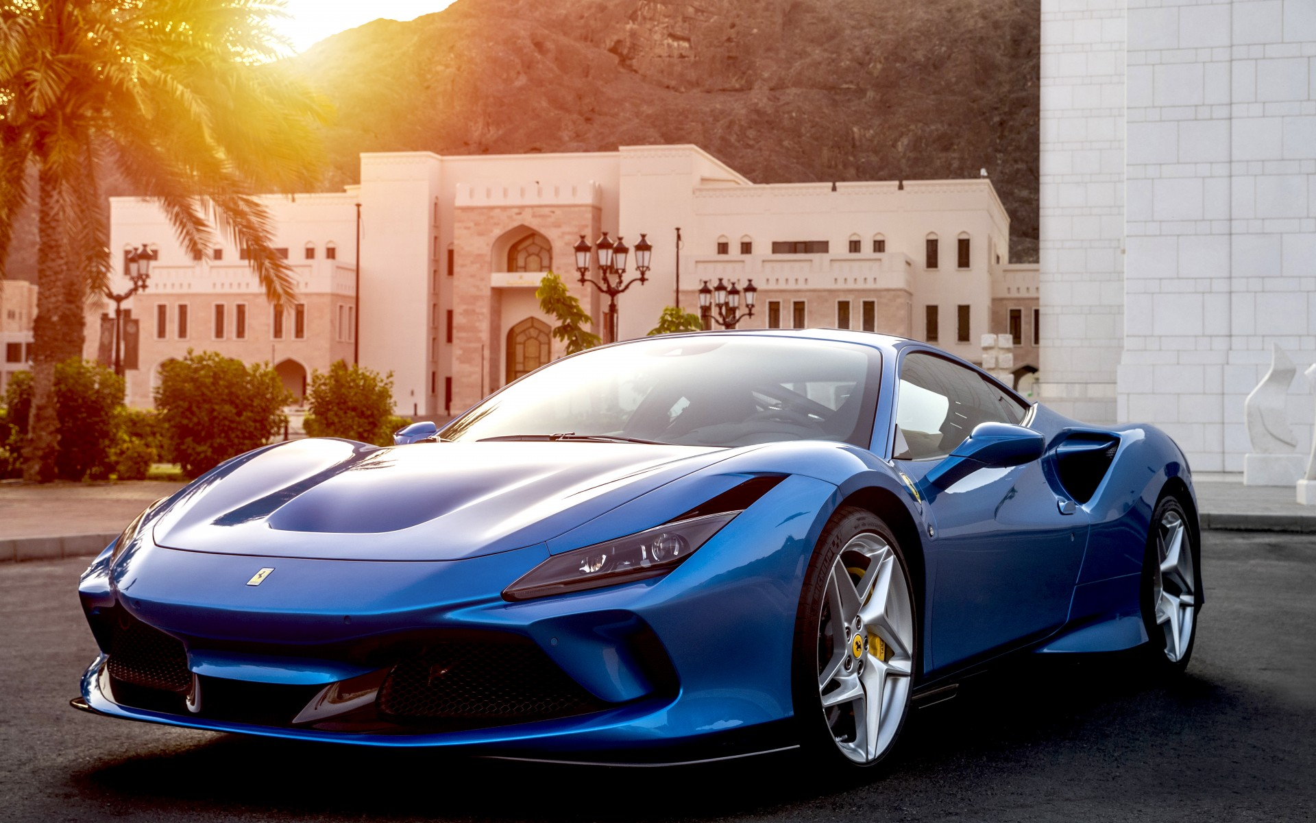 Ferrari F8 Tributo Blue Car Wallpaper
