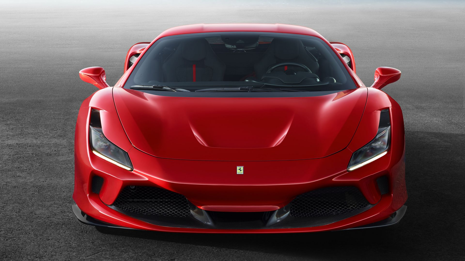 Ferrari F8 Tributo Red Car Desktop Wallpaper HD 1080p