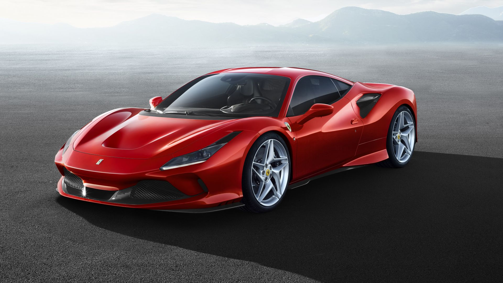 Ferrari F8 Tributo Red Color Car Wallpaper HD 1920x1080