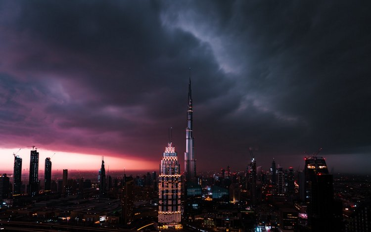 Incredible Night Cityscapes of the Midst of Lightning Storms