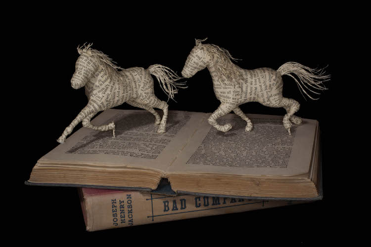 Artist Crafts Three-Dimensional Narratives from Antique Books