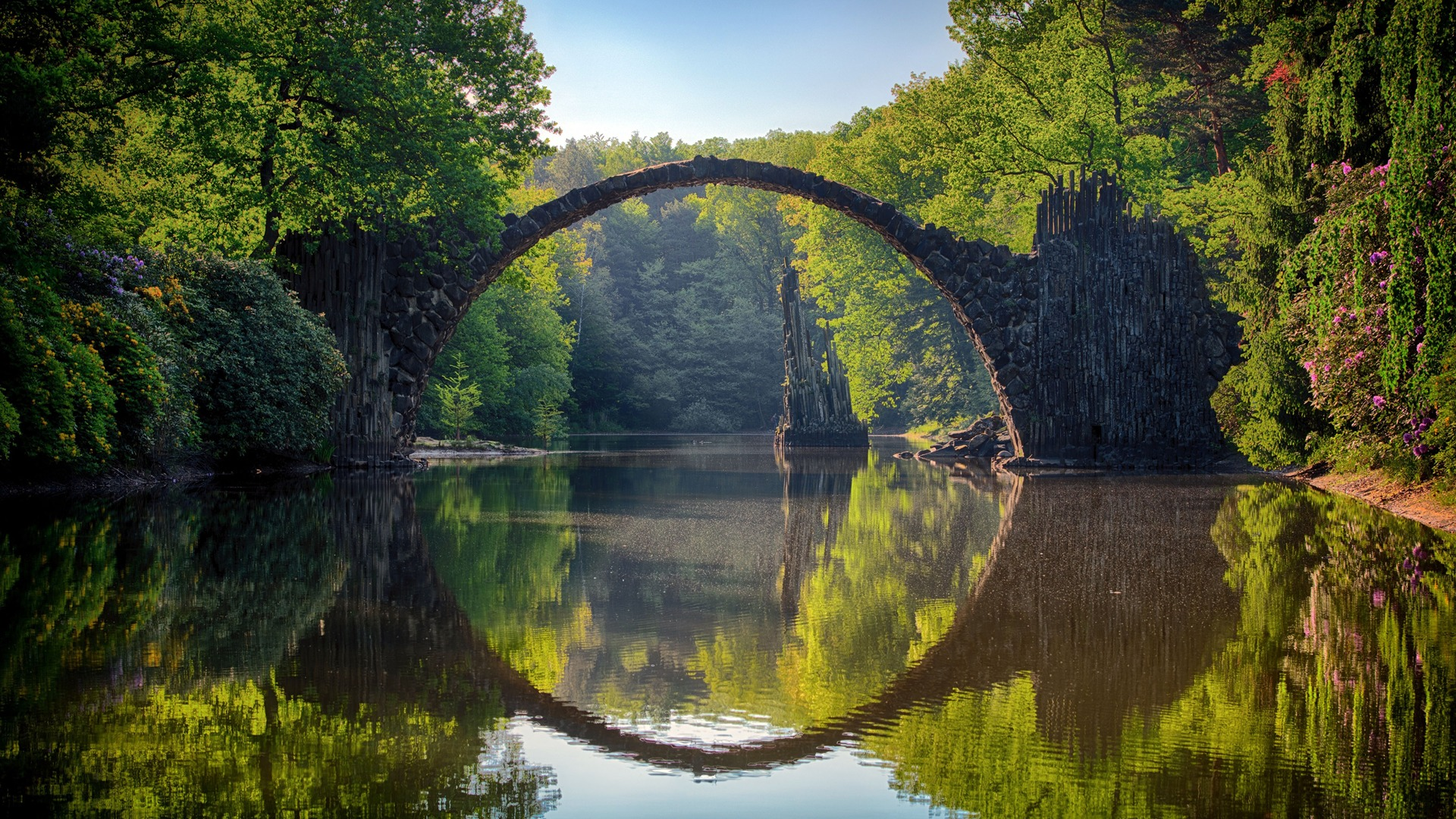 Devils Bridge Lake Photography HD Wallpaper