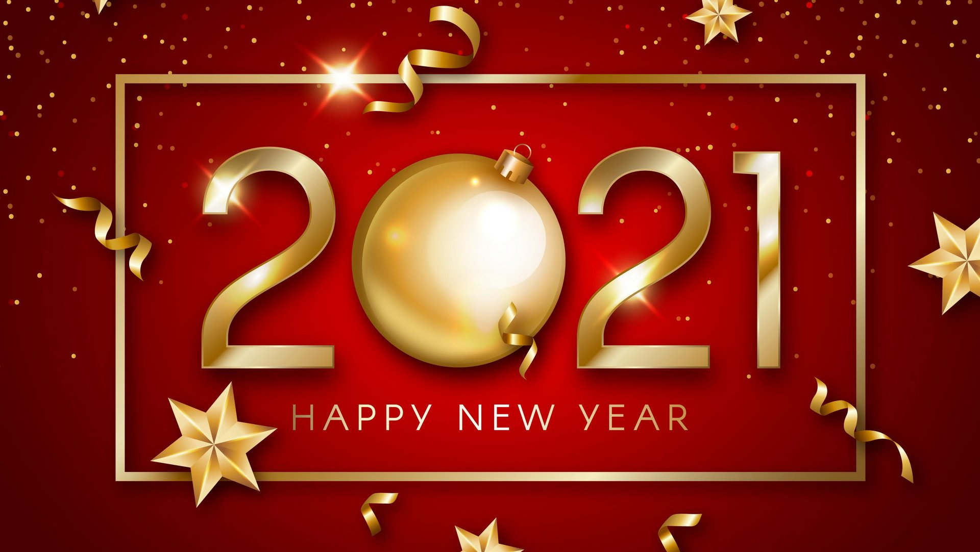 2021 Happy New Year Wallpaper 1920×1080