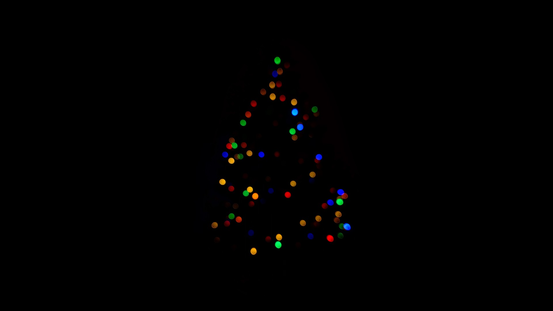 christmas tree christmas lights black minimal