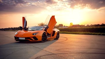 Orange Lamborghini Aventador 2020 Supercar Wallpaper 3840x2160