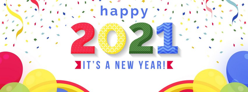 2021 Happy New Year Facebook Cover Photo