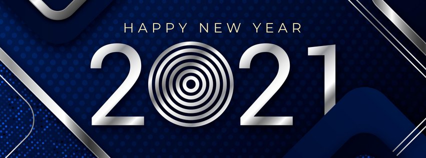 2021 new year text facebook cover