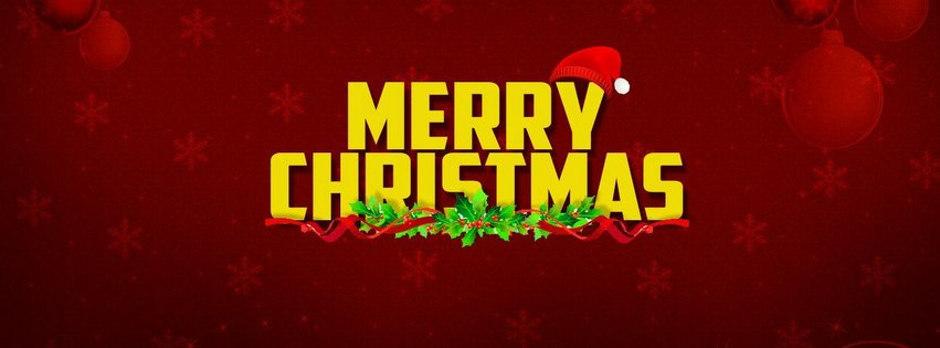 Happy Christmas Facebook Cover Photo