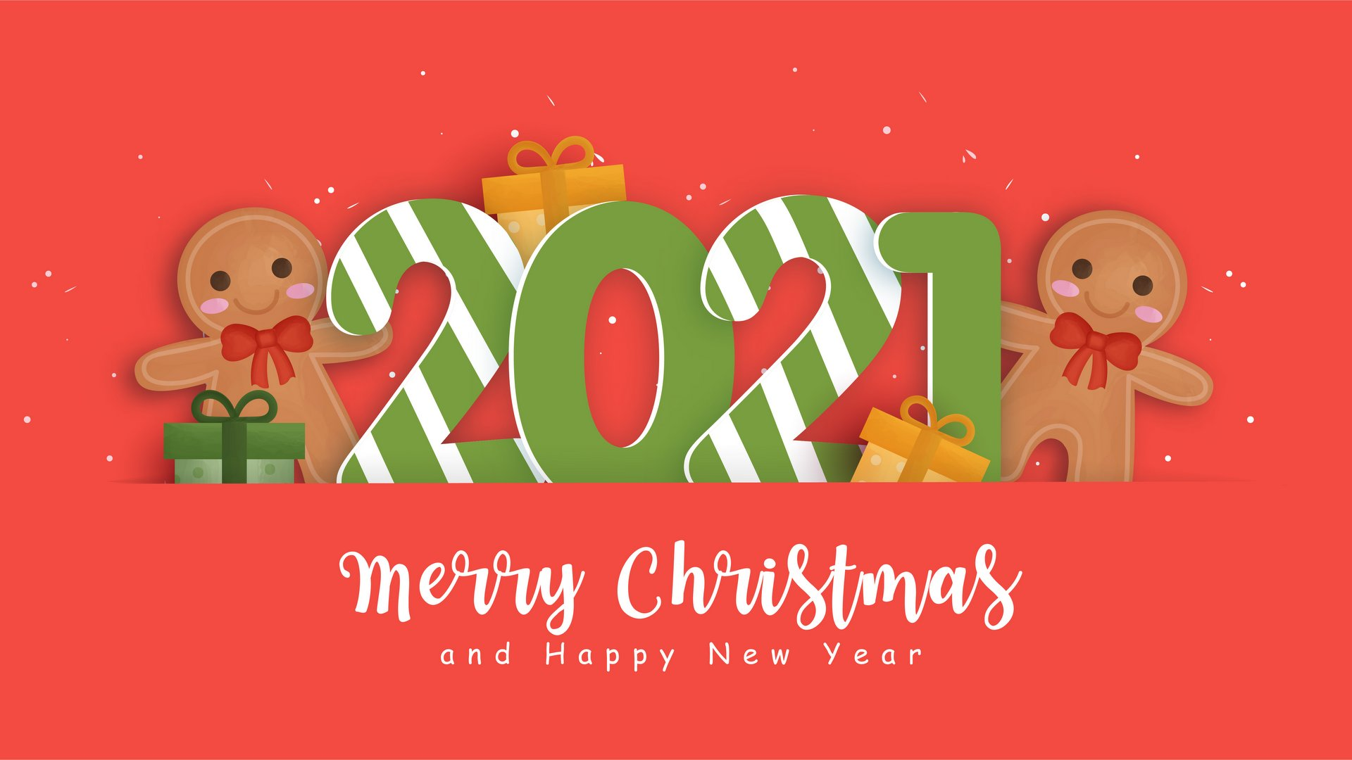 Merry Christmas and Happy New Year 2021 ecard