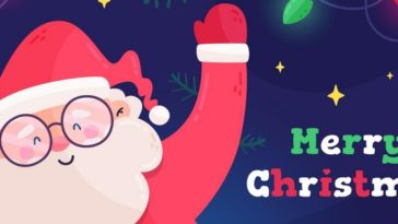 Santa Merry Christmas Facebook Cover Photo