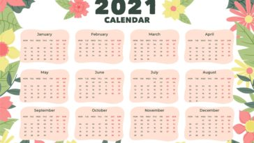 new year 2021 calendar high quality